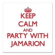 Keep Calm and Party with Jamarion Square Car Magne