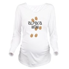 Alpaca Mom Long Sleeve Maternity T-Shirt