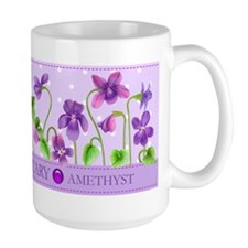 Birth Flowers And Gem February Mug
