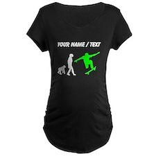 Custom Skateboard Evolution (Green) Maternity T-Sh