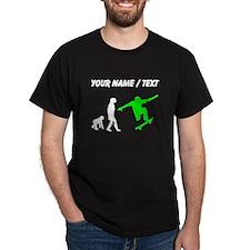 Custom Skateboard Evolution (Green) T-Shirt