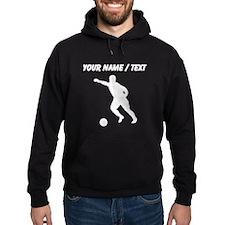 Custom Soccer Player Silhouette Hoody