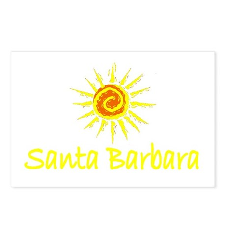 Santa Barbara, California Postcards (Package of 8)