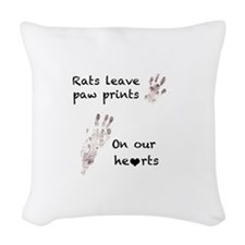 paw prints Woven Throw Pillow