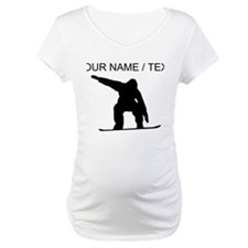 Custom Snowboarder Silhouette Shirt