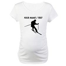 Custom Skier Silhouette Shirt