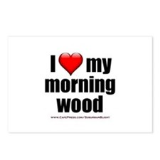 """""""Love My Morning Wood"""" Postcards (Package of 8)"""