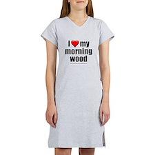 """Love My Morning Wood"" Women's Nightshirt"