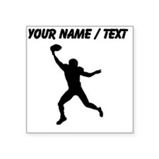Custom Football Wide Receiver Silhouette Sticker