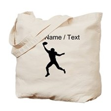 Custom Football Wide Receiver Silhouette Tote Bag