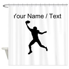 Custom Football Wide Receiver Silhouette Shower Cu