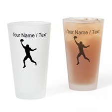 Custom Football Wide Receiver Silhouette Drinking