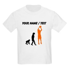 Custom Basketball Jump Shot Evolution (Orange) T-S