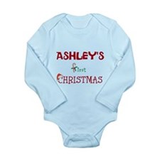 Baby's First Christmas Personalized Body Suit