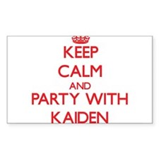 Keep Calm and Party with Kaiden Decal