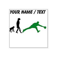 Custom Baseball Fielder Evolution (Green) Sticker