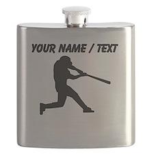 Custom Baseball Batter Silhouette Flask