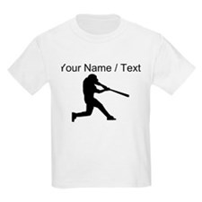 Custom Baseball Batter Silhouette T-Shirt
