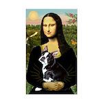 Mona & her Boston Ter Sticker (Rectangle)
