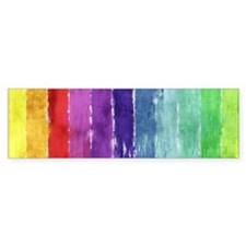 Geometric Stripes Watercolor Bumper Sticker