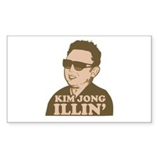 Kim Jong Illin' Rectangle Decal