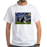 Starry Night Boston Ter White T-Shirt