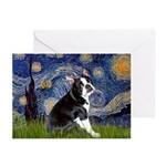 Starry Night Boston Ter Greeting Cards (Pk of 10)