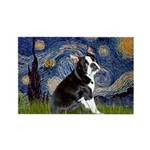 Starry Night Boston Ter Rectangle Magnet