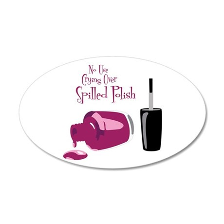 No Use Crying Over Spilled Polish Wall Decal