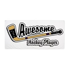 Hockey Player Beach Towel