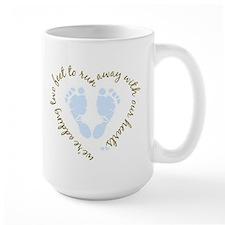 Adding Two Feet (blue) Mugs