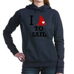 i-love-to-sail.png Hooded Sweatshirt