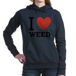 i-love-weed.png Hooded Sweatshirt