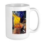 Cafe & Boston Terrie Large Mug