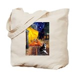 Cafe & Boston Terrie Tote Bag