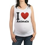 i-love-animals.png Maternity Tank Top