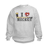 I love hockey Crew Neck