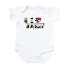 I Love Hockey Onesie
