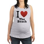 i-love-the-beach.png Maternity Tank Top
