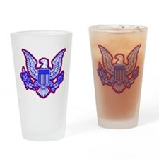 Red, White, and Blue Eagle Drinking Glass