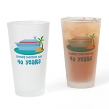40th Anniversary Cruise Drinking Glass