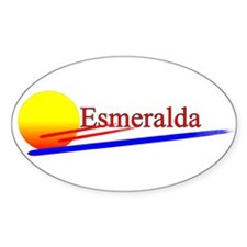 Esmeralda Oval Decal