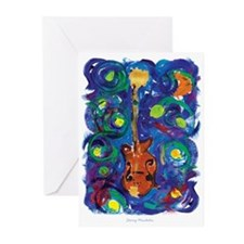 Starry Mandolin Greeting Cards (Pk of 10)