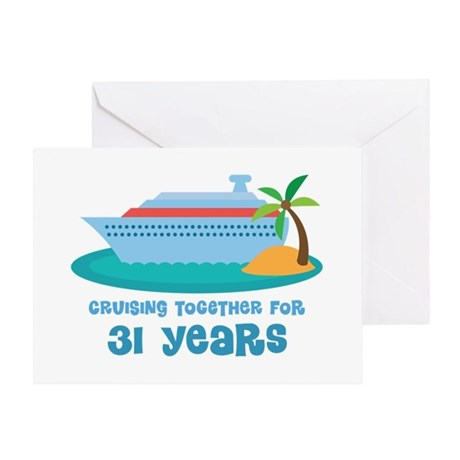31st Anniversary Cruise Greeting Card