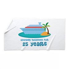25th Anniversary Cruise Beach Towel