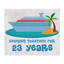 23rd Anniversary Cruise Throw Blanket