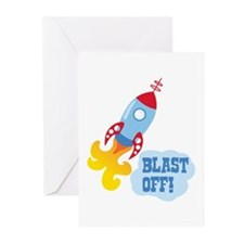 BLAST OFF! Greeting Cards