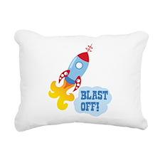 BLAST OFF! Rectangular Canvas Pillow