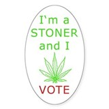 STONER VOTER Oval Decal