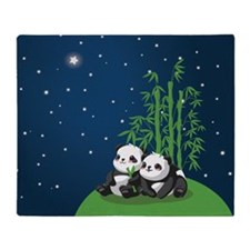 Star Night Panda Throw Blanket